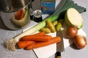 ingrédients soupe du potager